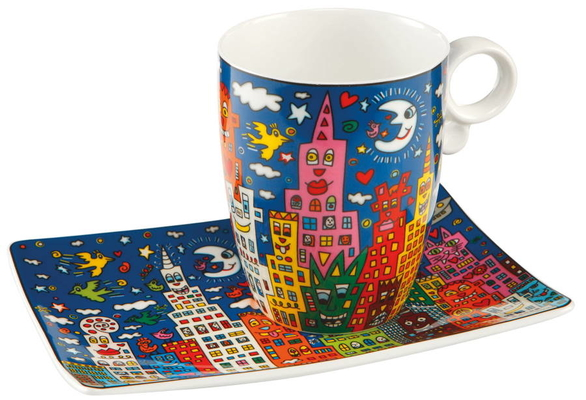 GOE-26102201 My New York City Night - Artist Mug James Rizzi Wohnaccessoires Goebel