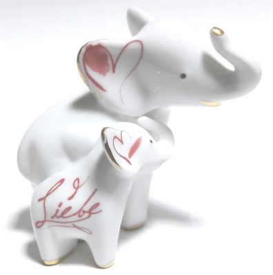 GOE-70000861 Mini Elephant in Love Love Elephant Goebel